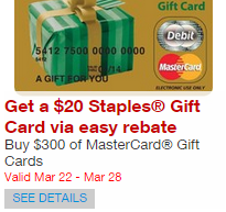 Staples - Mastercard Offer
