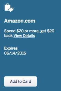Amex Offers - Amazon 20