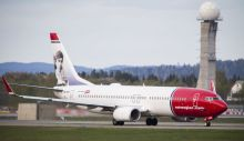 Picture taken on May 2, 2014 shows a Boeing 737-33S operated by Norwegian Air Shuttle on the tarmac at the Oslo Airport Gardemoen. Over the past decade, Norwegian Air Shuttle has brought budget travel into the Nordic mainstream, pushing Scandinavian legacy carrier SAS to the brink. AFP PHOTO / NTB scanpix/ AAS, ERLEND   NORWAY OUT        (Photo credit should read AAS, ERLEND/AFP/Getty Images)