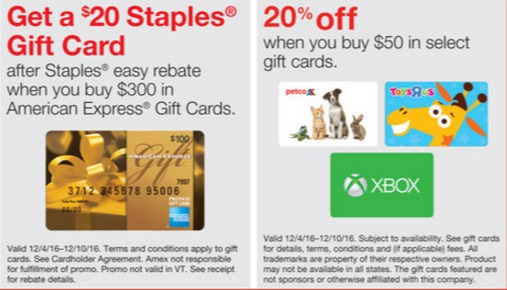 staples amex 20 off gift cards 20 off.jpeg