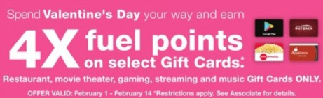 Fuel Points On Gift Cards