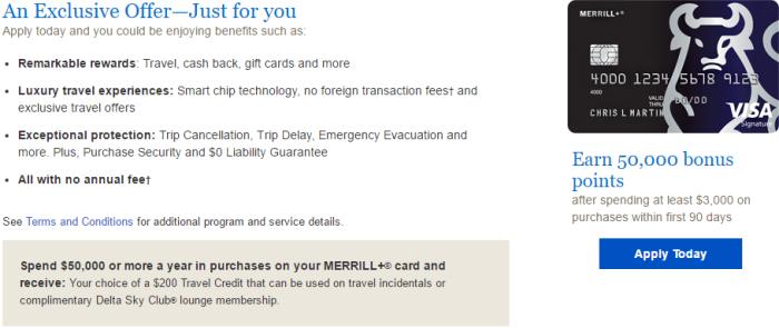 MERRILL+ 50K Bonus