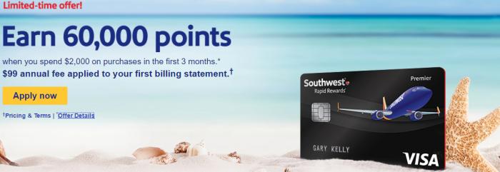 Southwest 60K bonus