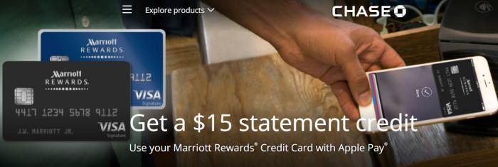 Marriott Rewards Apple Pay