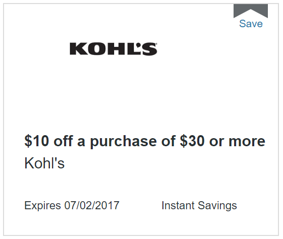 kohls discover deals